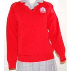 RED JUMPER (With embroidered Crest)