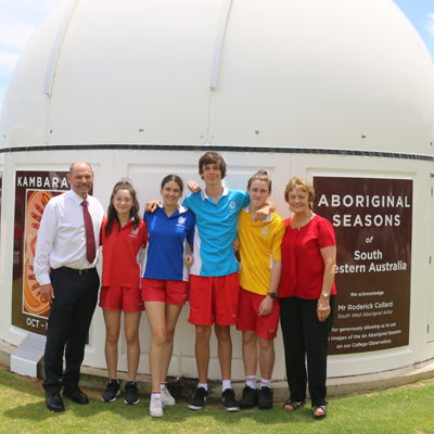 ABORIGINAL SEASONS DEPICTED ON COLLEGE OBSERVATORY