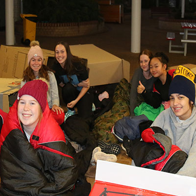 YOUNG VINNIES' YEAR 10 WINTER SLEEPOUT
